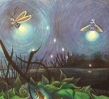 Fireflies in the Field by Artofliisalang