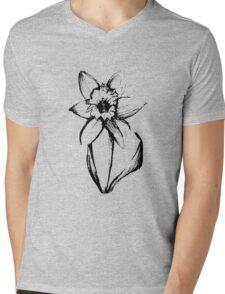 Impatient Flower Mens V-Neck T-Shirt