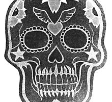Day of the Dead Pixelated Negative by saggiemick