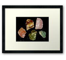 Calcite Colours Framed Print