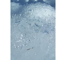Ice Crystals in Macro Photographic Print