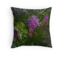 Purple Tops Throw Pillow