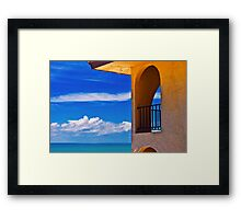 Window to paradise  Framed Print
