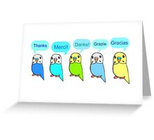 Budgie Thank You Card Greeting Card