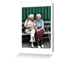 little old ladies Greeting Card