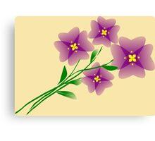Mauve flowers on a beige background Canvas Print