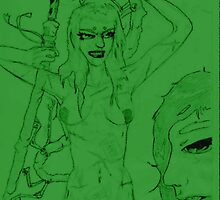 Benten Dragon Princess+ Naga Gob by aizen-mugen