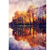Autumn Cracow watercolor Photographic Print