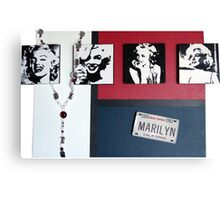 Many Faces of Marilyn Canvas Print