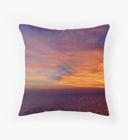 Sunset over the Gulf of Mexico 8 Throw Pillow