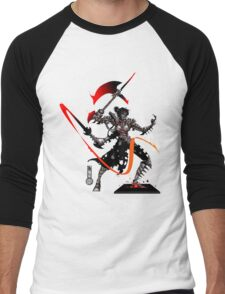 The Game of Kings, Wave Five: The Black Queen's Knight Men's Baseball ¾ T-Shirt