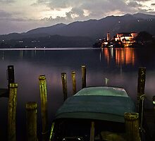 1997 Evening Isola San Juliano lago Orta by Fred Mitchell