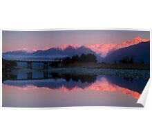 Fox Glacier at sunset Poster