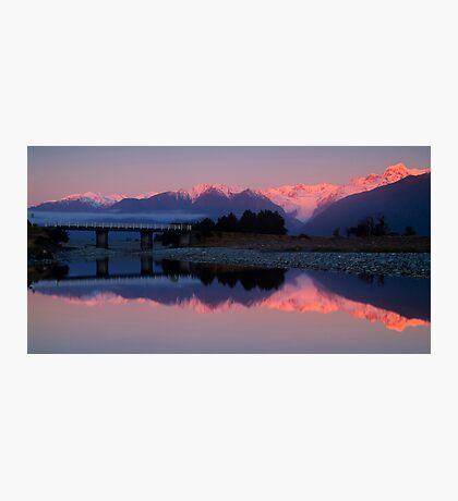Fox Glacier at sunset Photographic Print