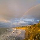 Rainbow over Buller Bay, Westport by Paul Mercer