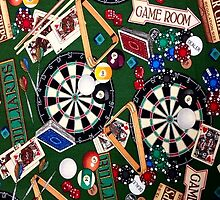 Game Room Billiards Darts & Cards by HavenDesign