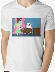 Ghost Tea Party Mens V-Neck T-Shirt