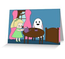 Ghost Tea Party Greeting Card