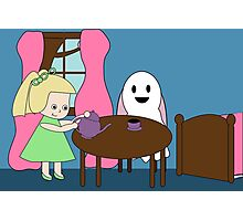 Ghost Tea Party Photographic Print