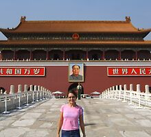 Miss and Mao-Tianamen Square, Beijing by fifotos