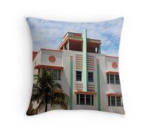 Miami Art Deco Hotel #2 Throw Pillow