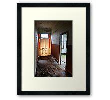 hallway of abandon Framed Print