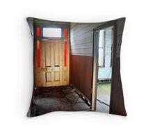 hallway of abandon Throw Pillow