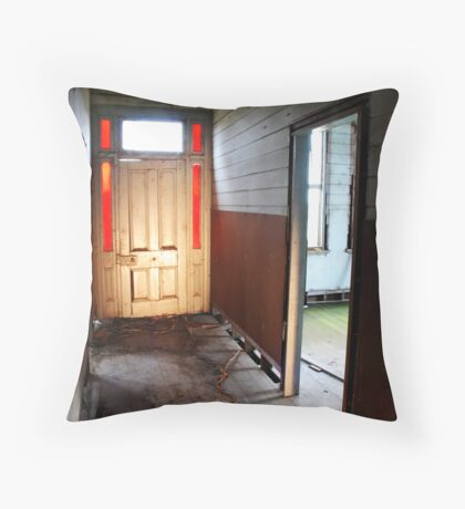 hallway of abandon Throw Pillow