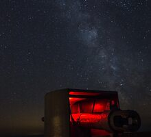 Batterie Lothringen & the Milky-way  by tracesofwar