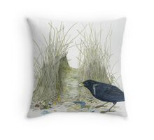 bower bird 1 Throw Pillow