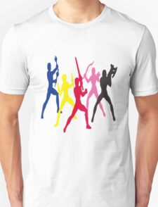 Mighty Morphin Power Rangers Silhouette 1 T-Shirt