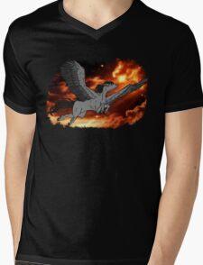 Dark Pegasus Mens V-Neck T-Shirt