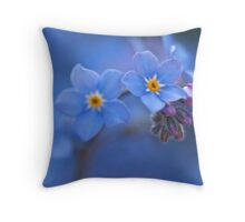 Forget Me Not Heaven Throw Pillow