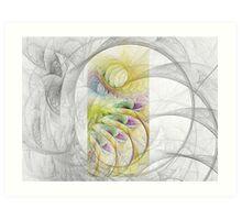 Fractal Sketching Art Print