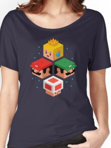 MUSHROOM KINGDOM CUBES Women's Relaxed Fit T-Shirt