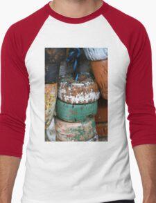 Fishing Net Cork Floats Men's Baseball ¾ T-Shirt