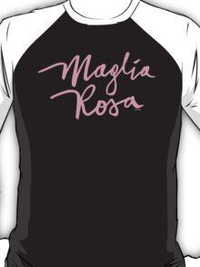 Maglia Rosa : Pink Script T-Shirt
