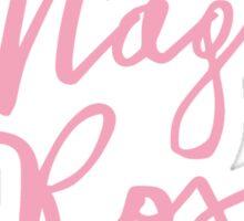 Maglia Rosa : Pink Script Sticker