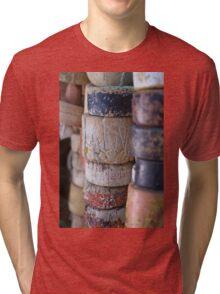 Fishing Net Cork Floats Tri-blend T-Shirt