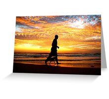 TWO MATES AT SUNRISE (FRIENDSHIP) Greeting Card