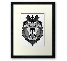 The Fallen Lion King Framed Print