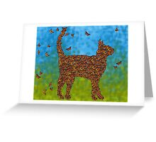 Monarch Cat Greeting Card