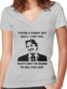 Commando - You're a Funny Guy Sully Women's Fitted V-Neck T-Shirt