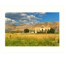 Old Sicilian mansion Art Print