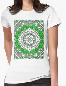 Satin Kaliedescope 1 Womens Fitted T-Shirt