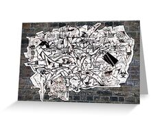 Graff madness Collaboration oN the WALL Greeting Card