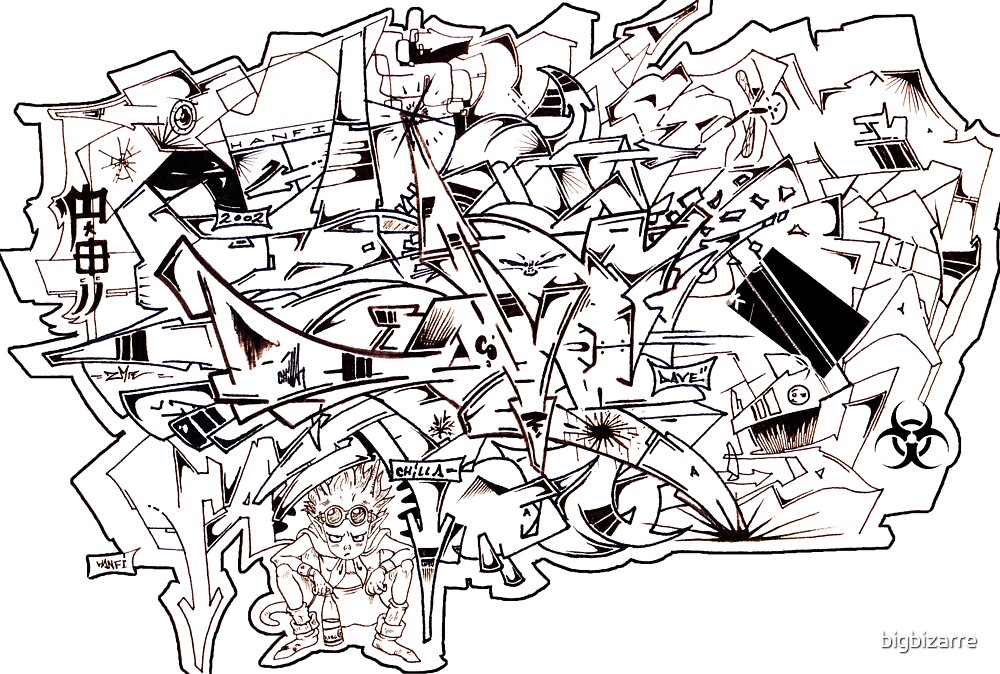 Graff madness Collaboration oFF the Wall by bigbizarre