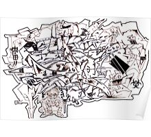 Graff madness Collaboration oFF the Wall Poster