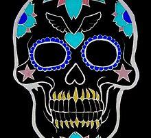Day of the Dead Negative Color by saggiemick