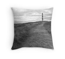 Tarbet Ness Lighthouse Throw Pillow